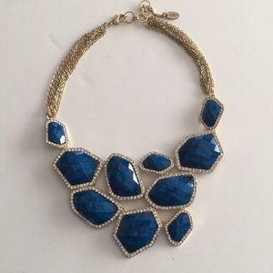 Amrita Singh Blue Stone Statement Collar Necklace